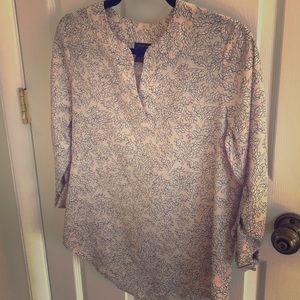 Pale Pink Printed Blouse